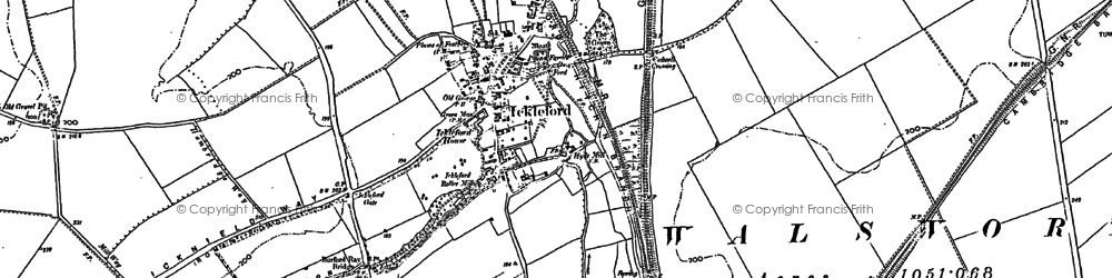 Old map of Westmill in 1899