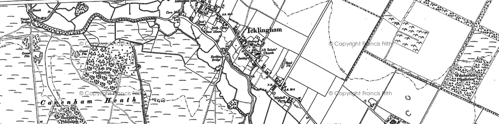 Old map of Ash Plantn in 1882