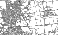 Old Map of Ickwell, 1882 - 1900