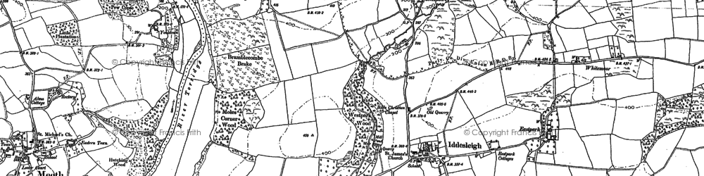 Old map of Whitemoor in 1885