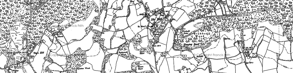Old map of Whitley Row in 1895