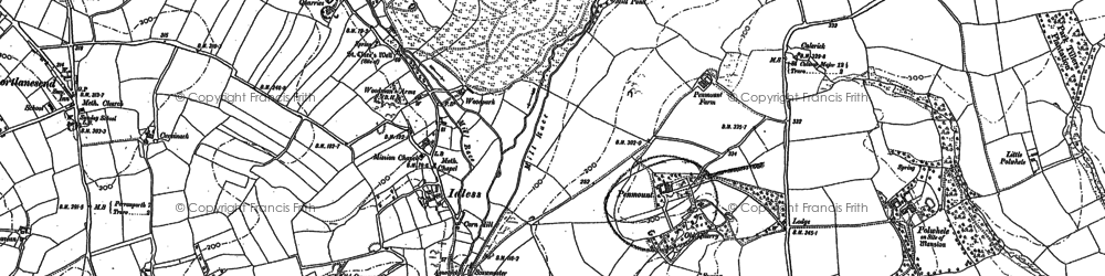 Old map of Idless in 1879