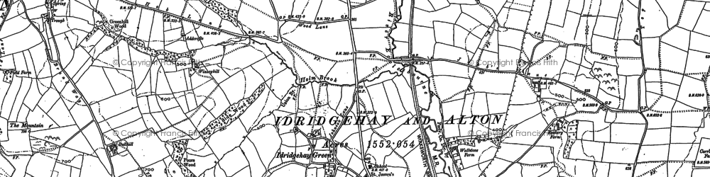 Old map of Winneyhill in 1879