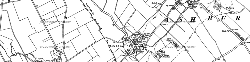 Old map of Alfred's Castle in 1910
