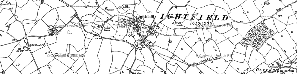 Old map of Lea Hall in 1879