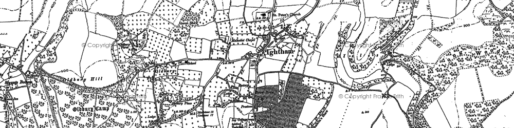 Old map of Yaldham Manor in 1866