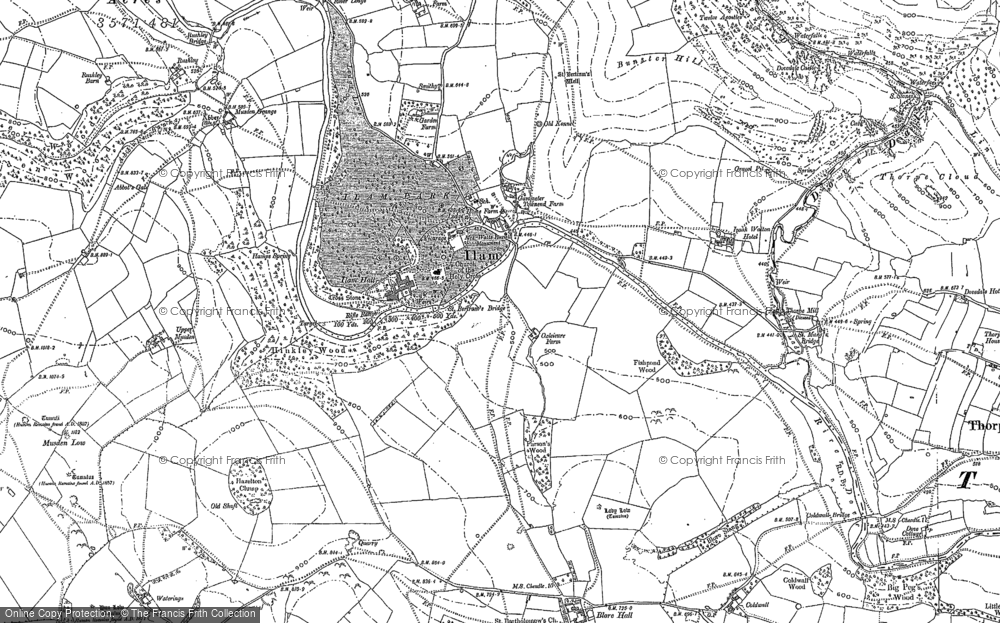 Old Map of Ilam, 1898 in 1898
