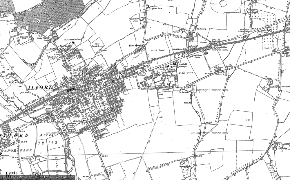 Old Map of Ilford, 1894 - 1895 in 1894