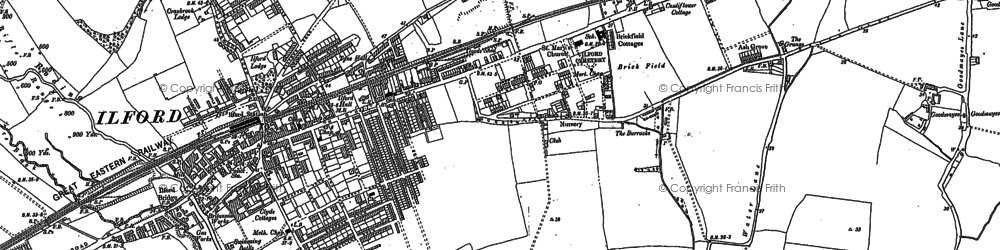 Old map of Ilford in 1894