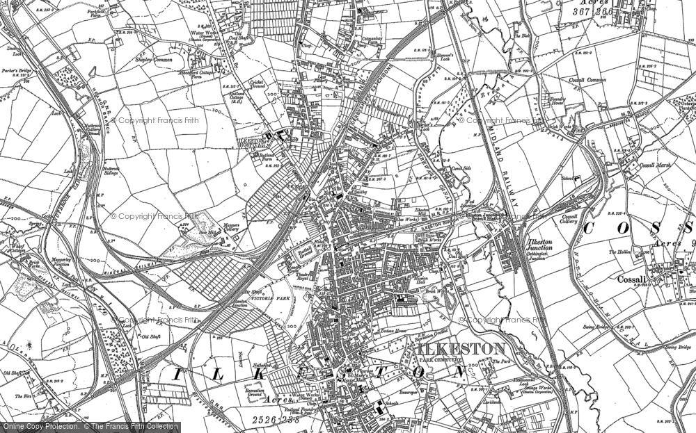 Map of Ilkeston, 1899