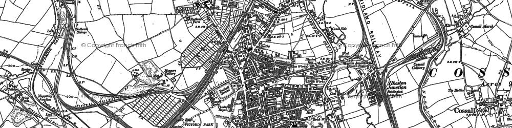 Old map of Ilkeston in 1899