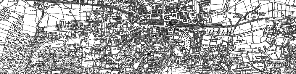 Old map of White Wells in 1907