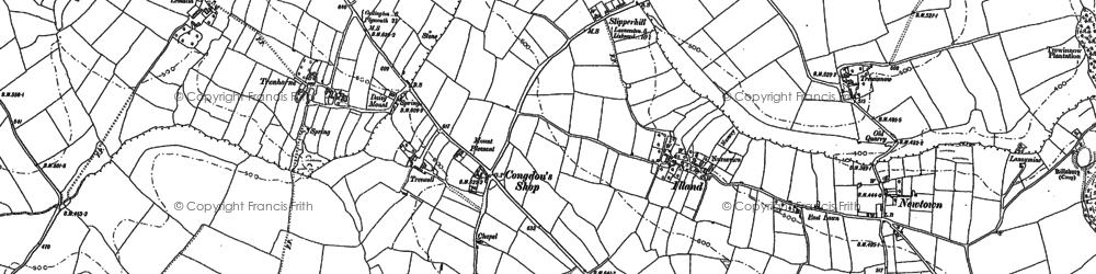 Old map of Newtown in 1882