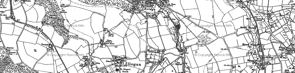 Old map of Illogan in 1878