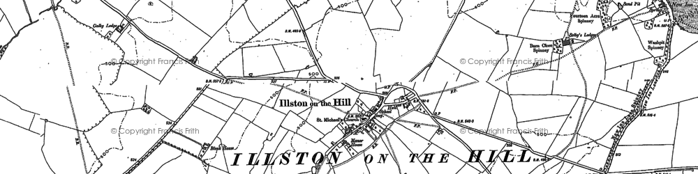 Old map of Ashlands in 1885
