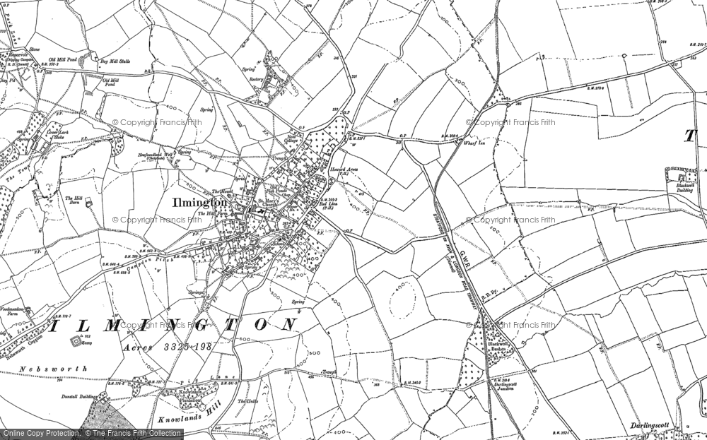Old Map of Ilmington, 1900 in 1900