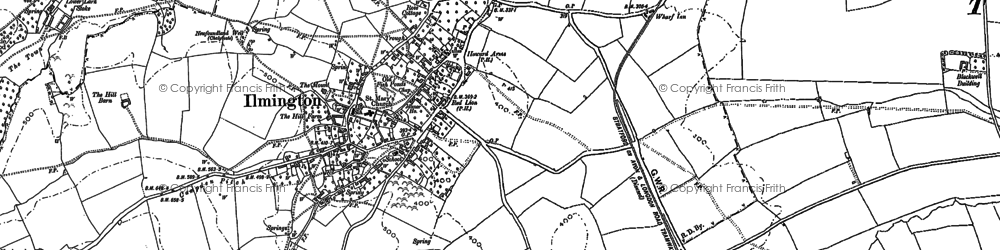 Old map of Windmill Hill in 1900