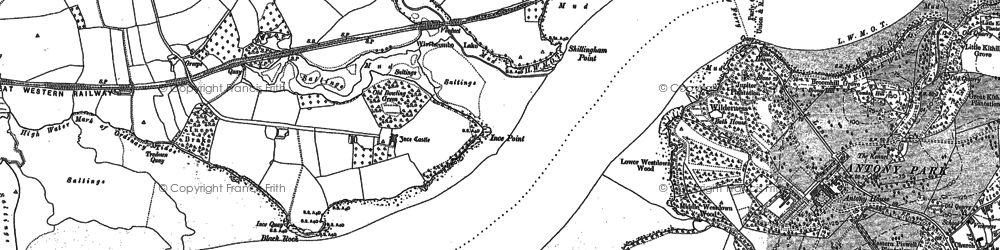 Old map of Ince Castle in 1883