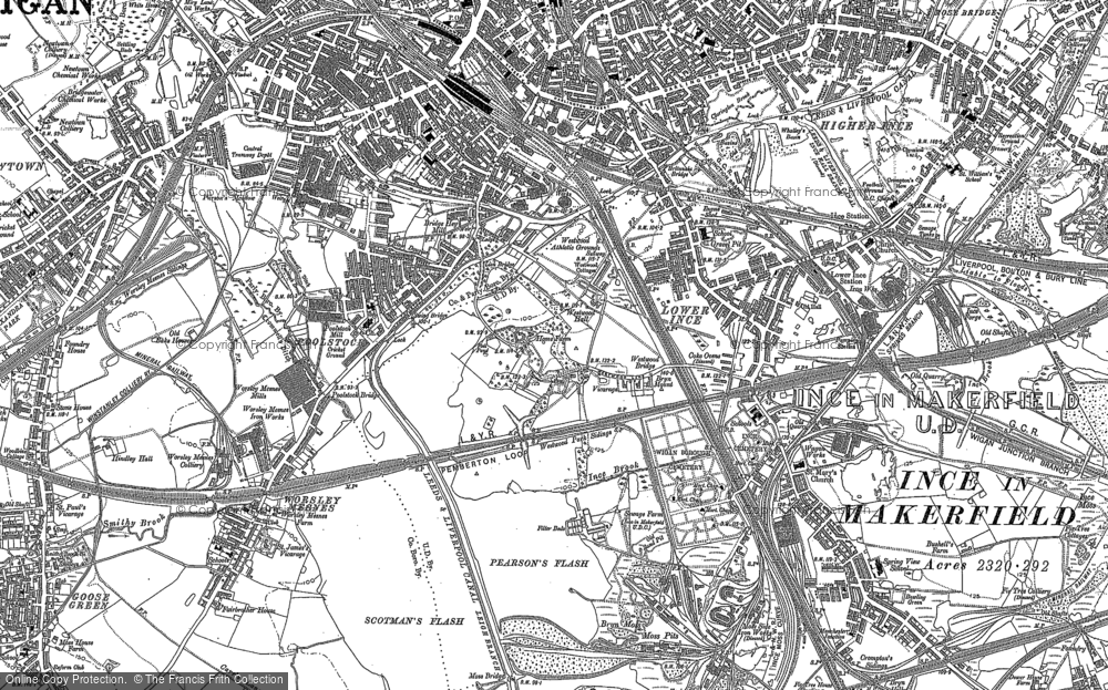 Old Map of Ince in Makerfield, 1892 in 1892