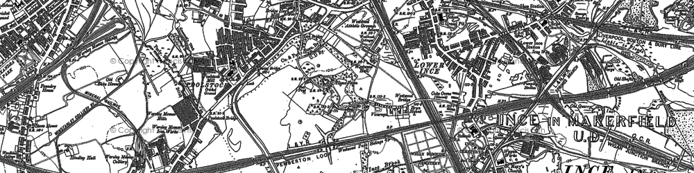 Old map of Ince in Makerfield in 1892