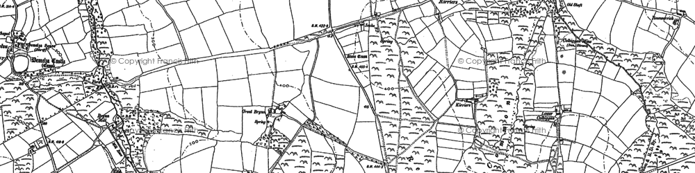 Old map of Hendra in 1880