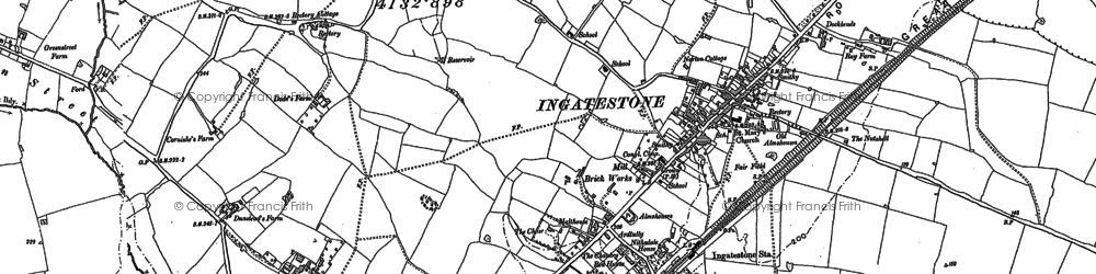 Old map of Tilehurst in 1895