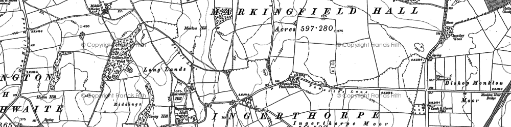 Old map of Yorbus Grange in 1890