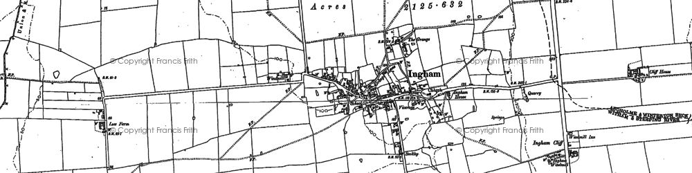 Old map of Ingham in 1885