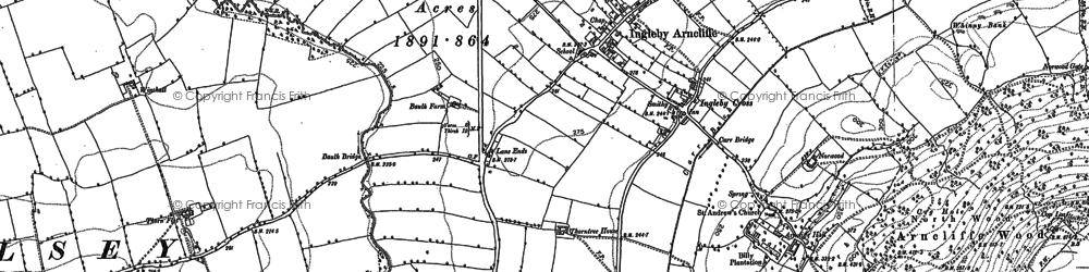 Old map of Winchatt in 1890