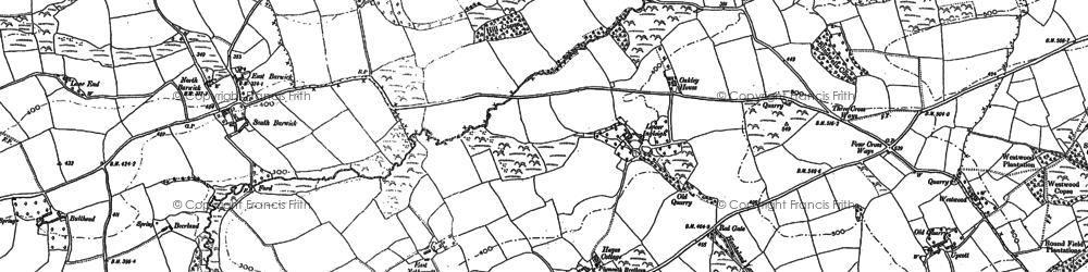 Old map of Barwick in 1885