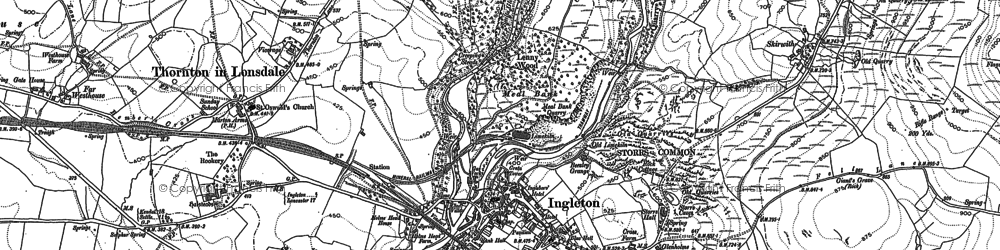 Old map of White Scar Cave in 1907