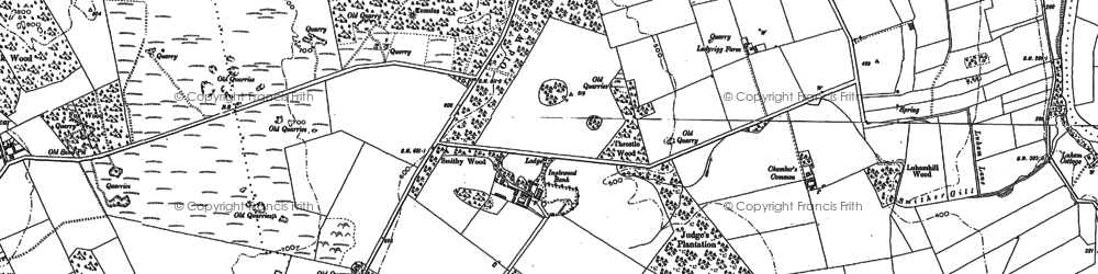 Old map of Wolfa in 1898