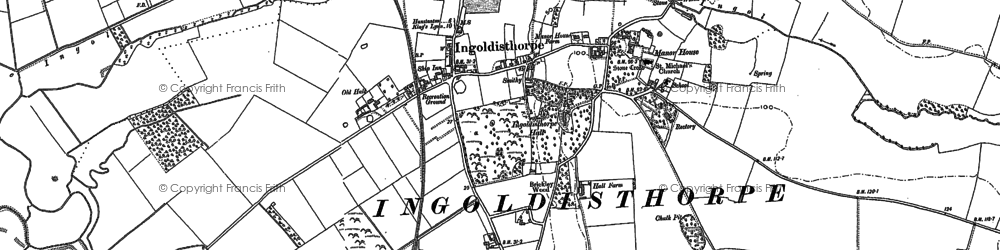 Old map of Ingoldisthorpe in 1885