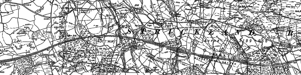Old map of Whasdike in 1897