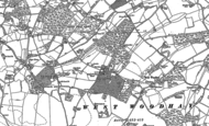 Old Map of Inkpen Common, 1909 - 1910