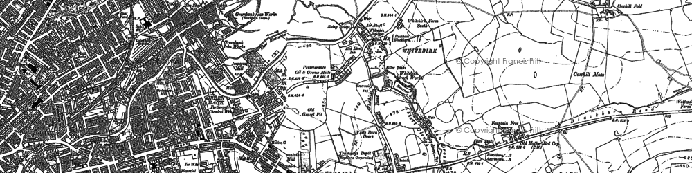 Old map of Whitebirk in 1891