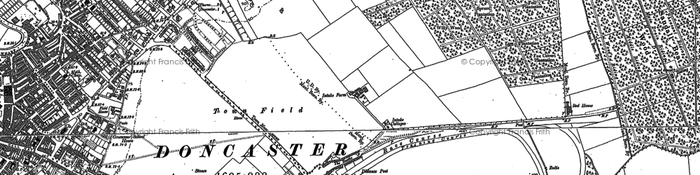 Old map of Wheatley in 1890