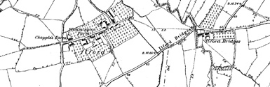 Old map of Allt na Ciste Duibhe centred on your home
