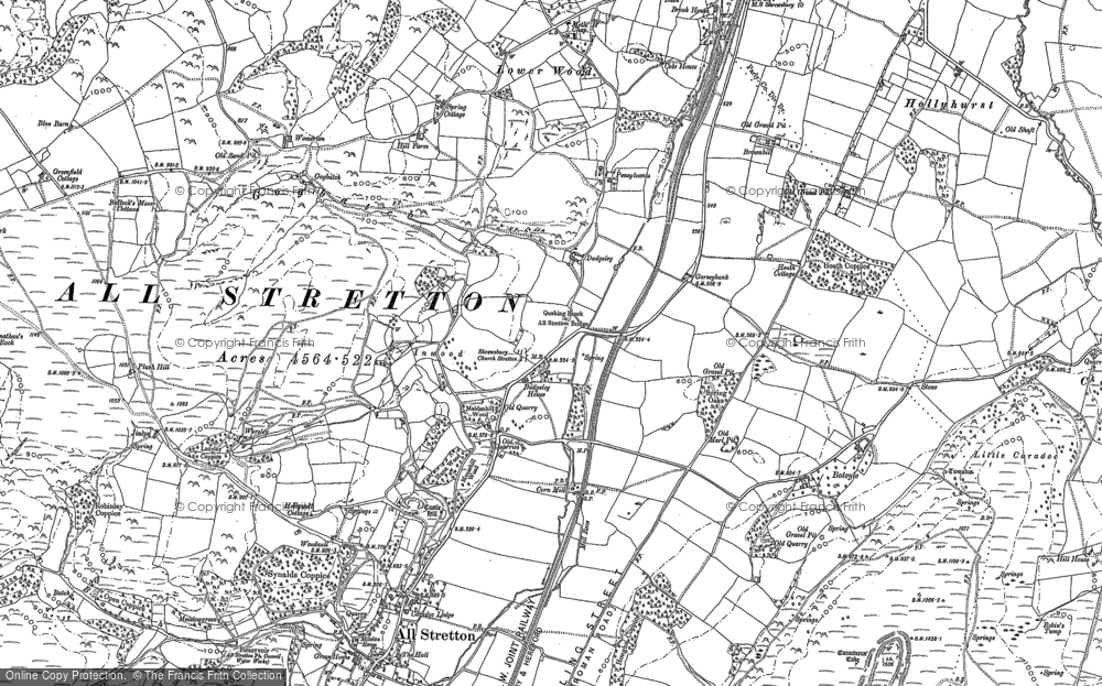 Old Map of Historic Map covering Worsley in 1882