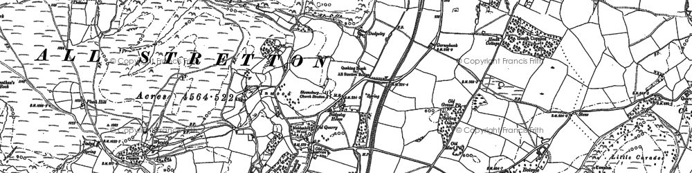 Old map of Worsley in 1882
