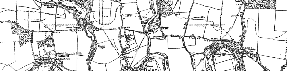 Old map of Iping in 1895