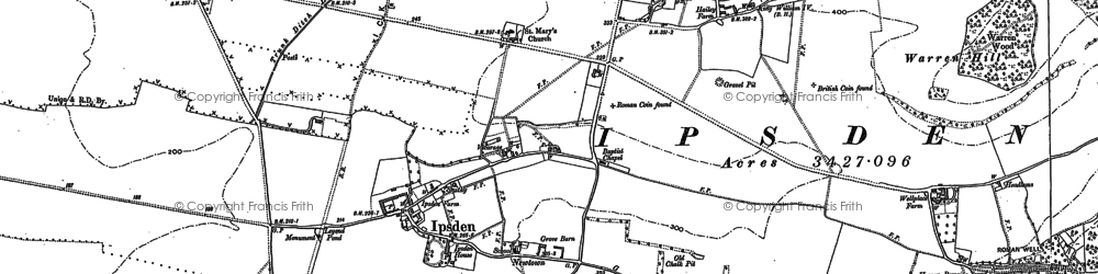 Old map of Wicks Wood in 1897