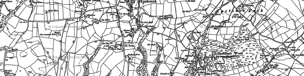 Old map of Whitehough in 1879