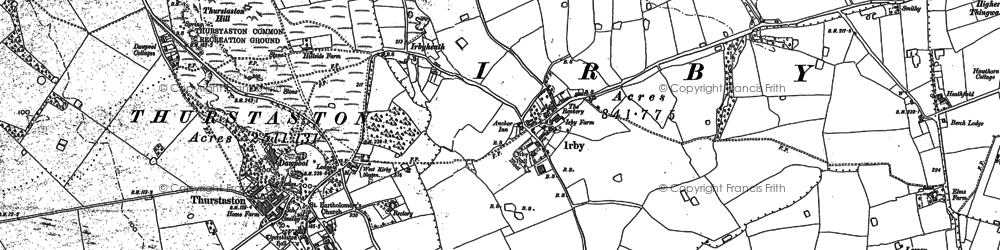 Old map of Irby in 1898
