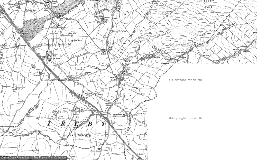 Old Map of Ireby, 1907 in 1907