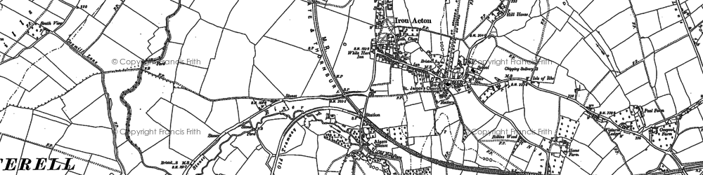Old map of Acton Lodge in 1879