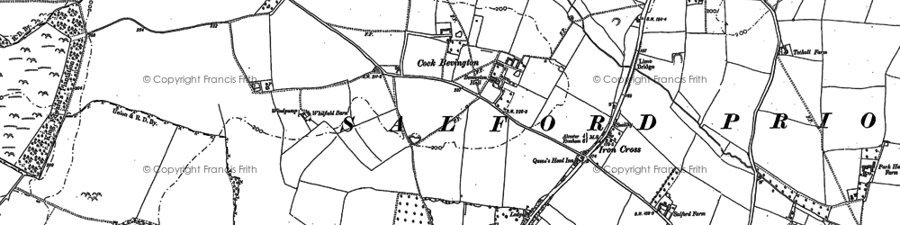 Old map of Ban Brook in 1885