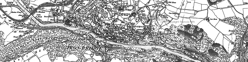 Old map of Madeleywood in 1882