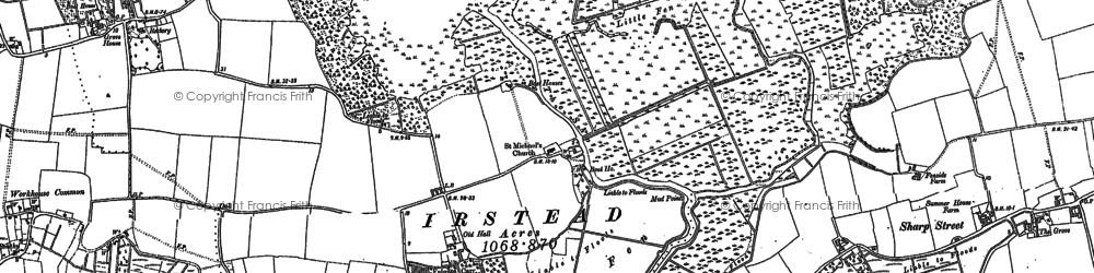 Old map of Alderfen Broad in 1880