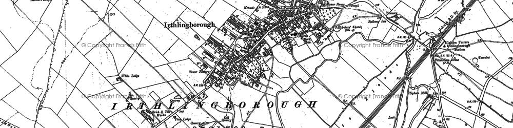 Old map of Irthlingborough in 1884